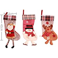 Noloo Noloo クリスマス ソックス 靴下 ブーツ ツリー飾り ギフトバッグ お菓子入り キャディー 3 D サンタ トナカイ 雪だるま