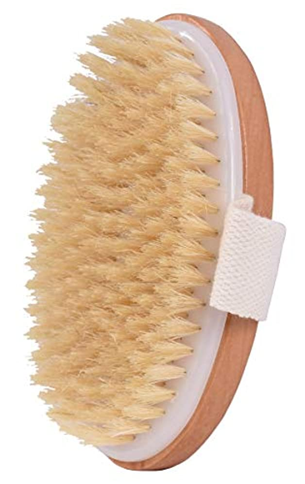 満足させるヘア滑り台ボディブラシ 100%天然高級な豚毛マッサージ バス用品 竹製シャワーブラシ お風呂用体洗い角質除去 美肌効果 血液循環を改善し、健康と美容に良い