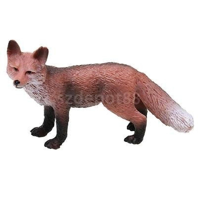Lifelikeレッドフォックス野生生物動物モデルフィギュア子供教育玩具