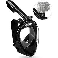 シュノーケルマスク EKOOS ダイビングマスク 防曇 フルフェイス型 子ども用 180°のワイドビュー 水害への備え 海のプール 潜水マスク スポーツカメラ取付可能 男女兼用 シュノーケルに最適