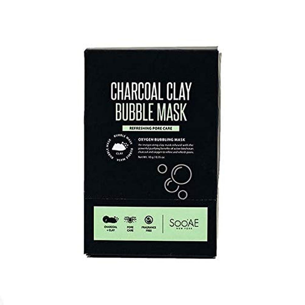 書誌グリットシャワー[SooAe] Soo'Ae炭粘土バブルマスク - Soo'Ae Charcoal Clay Bubble Mask [並行輸入品]