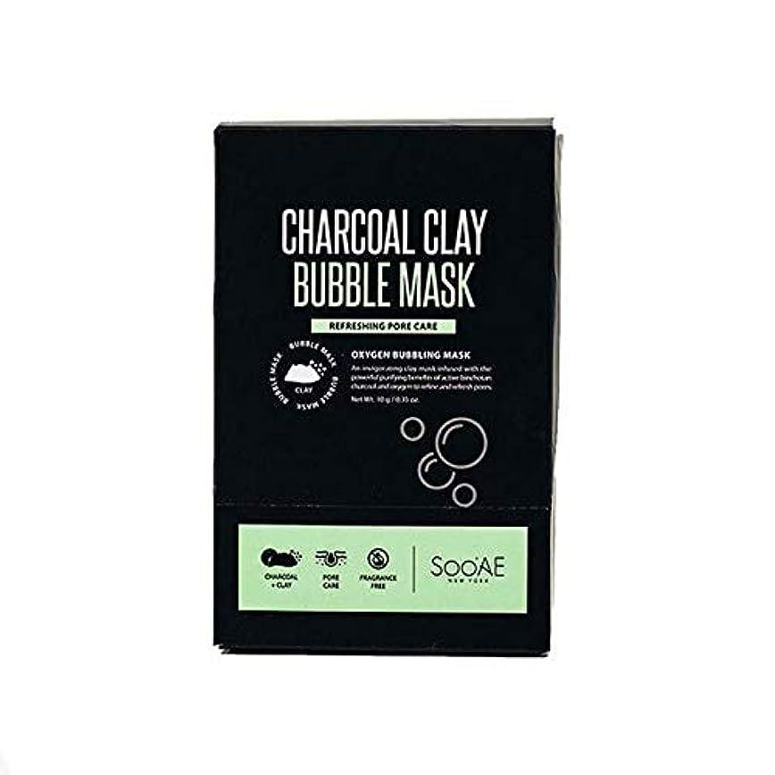 レーダー反論者笑[SooAe] Soo'Ae炭粘土バブルマスク - Soo'Ae Charcoal Clay Bubble Mask [並行輸入品]