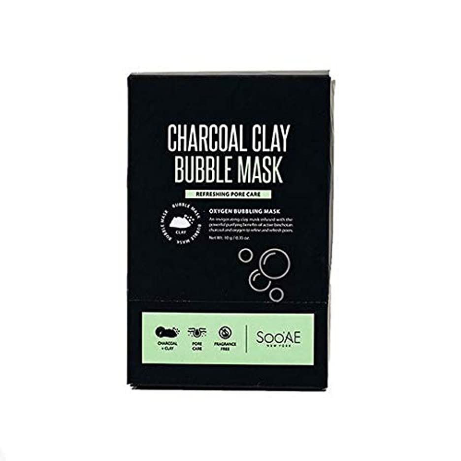 枯渇ぺディカブ拍手する[SooAe] Soo'Ae炭粘土バブルマスク - Soo'Ae Charcoal Clay Bubble Mask [並行輸入品]