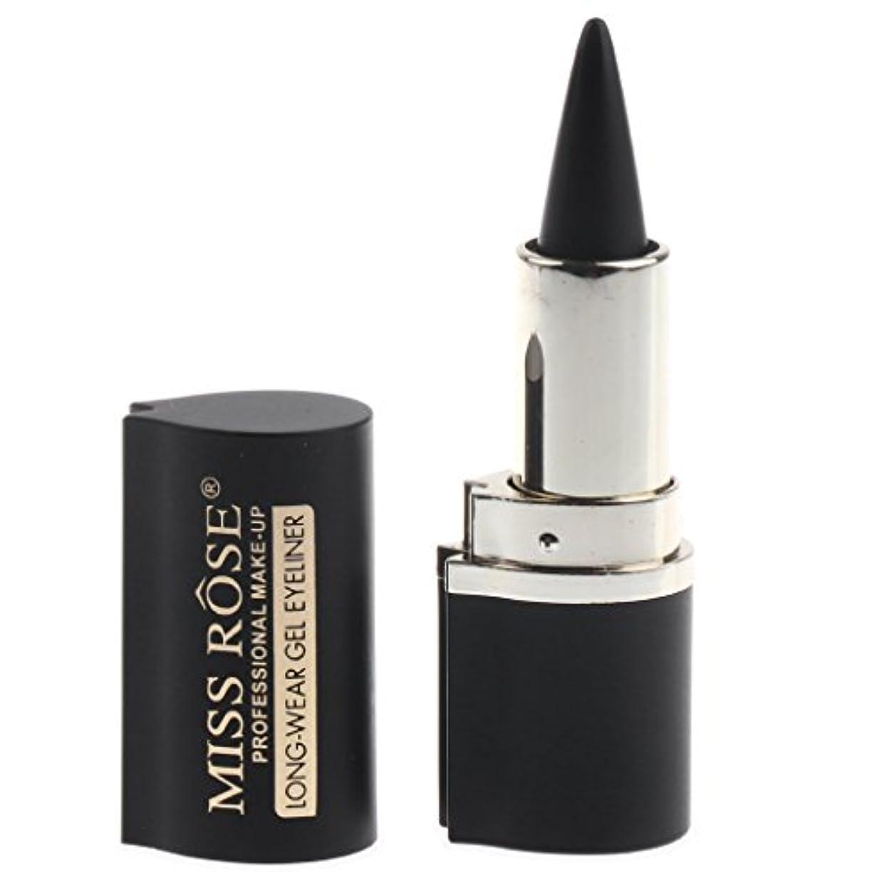 緊張する破産別々にアイライナー ペーストペン 化粧品 アイライナージェル メイク 持ち運び簡単 アイメイク 耐水性