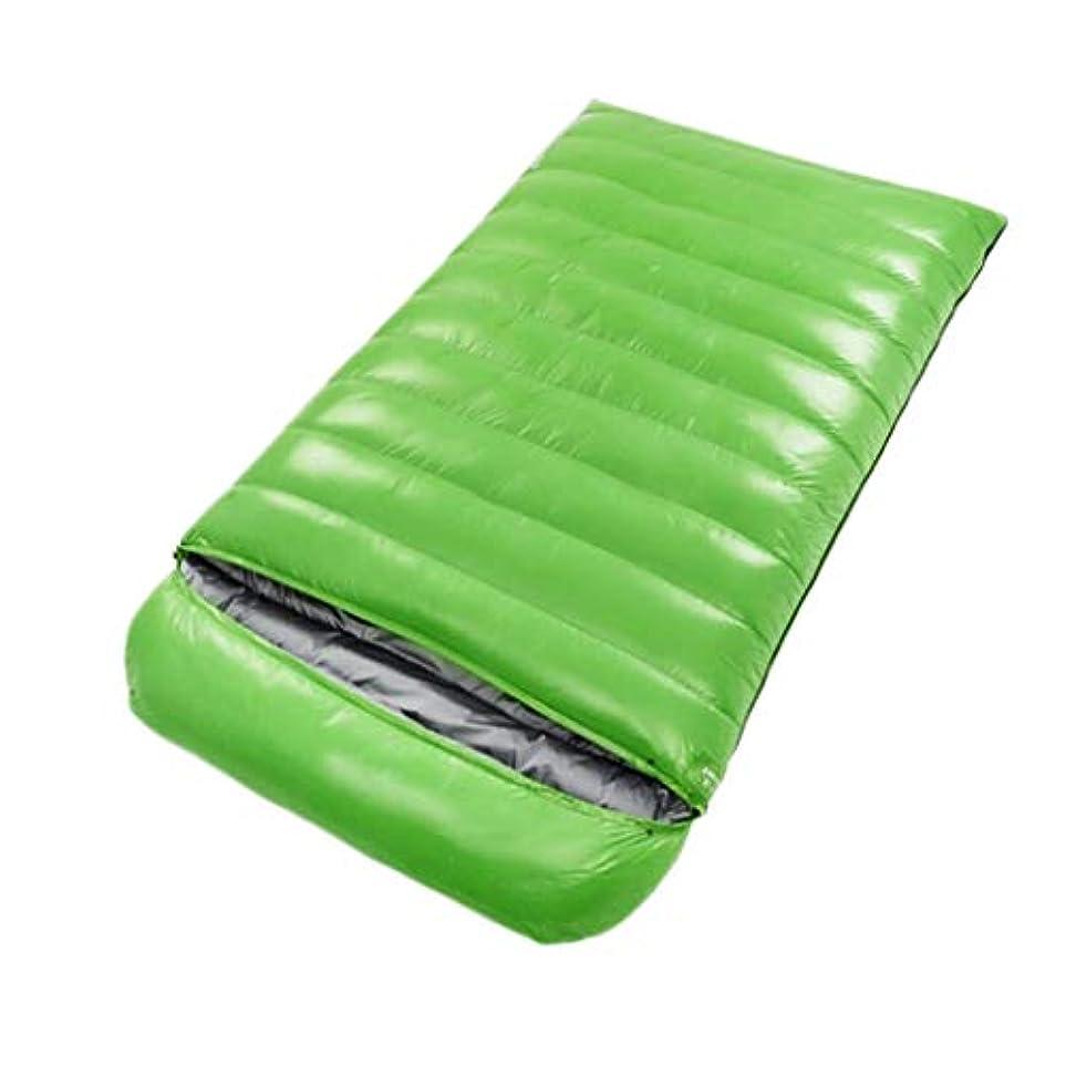 に光沢グリーンバック冬の寝袋屋外キャンプハイキングに適したポータブル寝袋 (Capacity : 5.5kg, Color : Green)