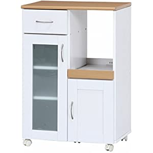 不二貿易 キッチンカウンター サージュ 幅60cm ホワイト ナチュラル 96818
