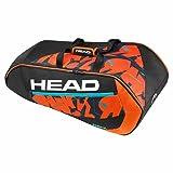 HEAD(ヘッド) RADICAL 9R SUPERCOMBI テニス ラケットバッグ 9本收納可 ブラック×オレンジ(BKOR) 283177-BKOR