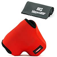 MegaGear ''Ultra Light'' Neoprene Camera Case Bag for Olympus OM-D E-M1 with 12-40mm (Red) [並行輸入品]