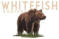 Whitefish、モンタナ州–Grizzly Bear–アイコン 24 x 36 Giclee Print LANT-80998-24x36