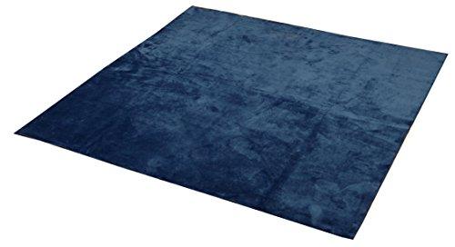 イケヒコ ラグ 2畳タイプ 洗える 無地 『イーズ』 ネイビー 約185×185cm すべりにくい裏地加工 3963619 1枚