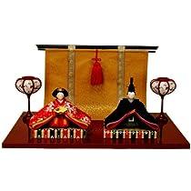 雛人形 ひな人形 コンパクト 『夢雅雛』 玄関にも飾れる小型タイプ