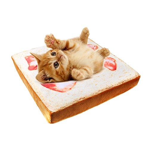 IDEAPRO 猫用ソファ 猫用ベッド ふわふわ 食パン型 四季通用 ?座布団 椅子用?38cmx38cm