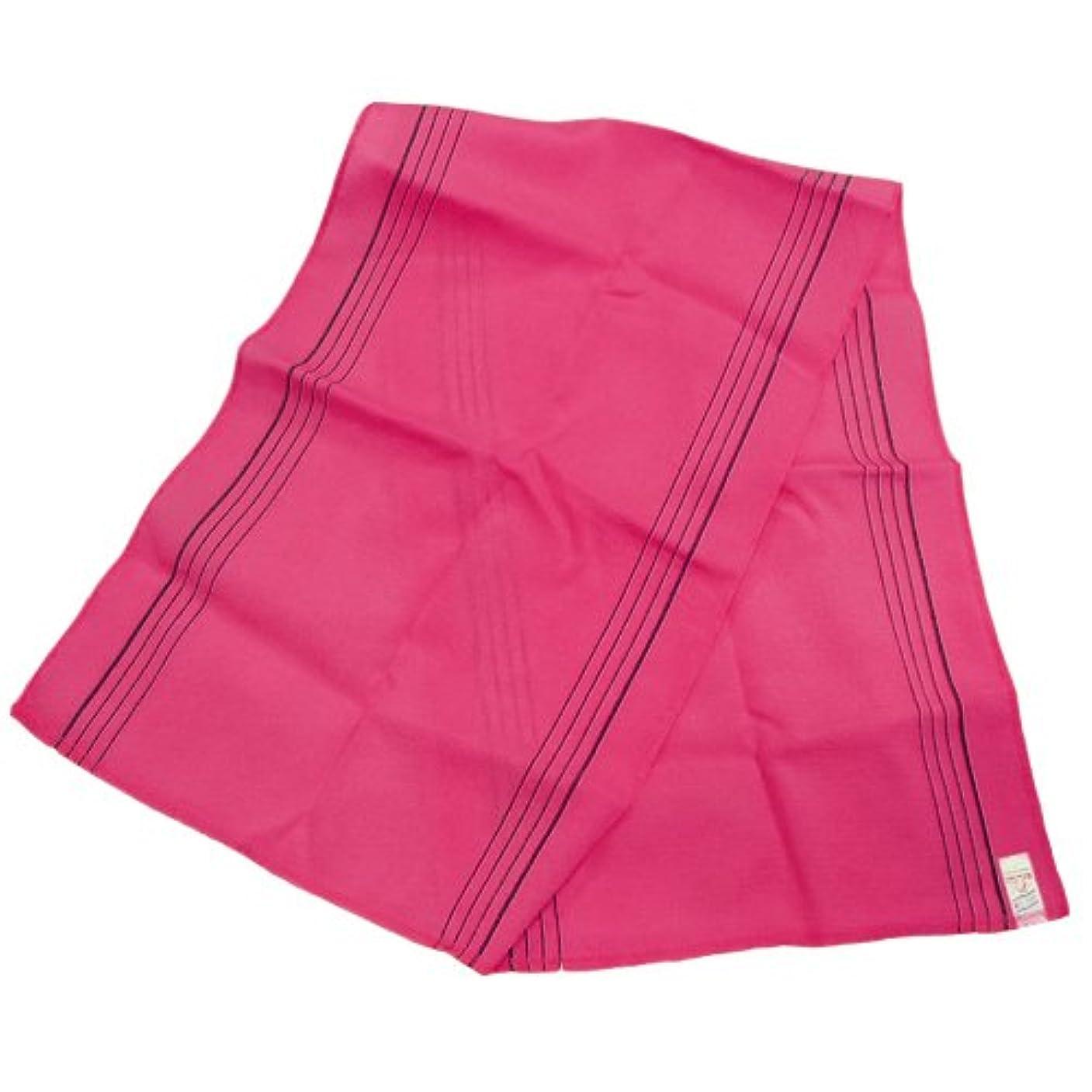 豊富な着服征服するノーブランド品 韓国あかすり ロング タオル(ピンク)
