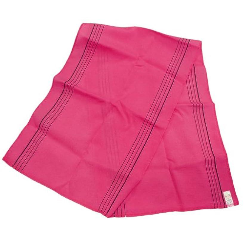 乗り出す申し立てられたオズワルドノーブランド品 韓国あかすり ロング タオル(ピンク)