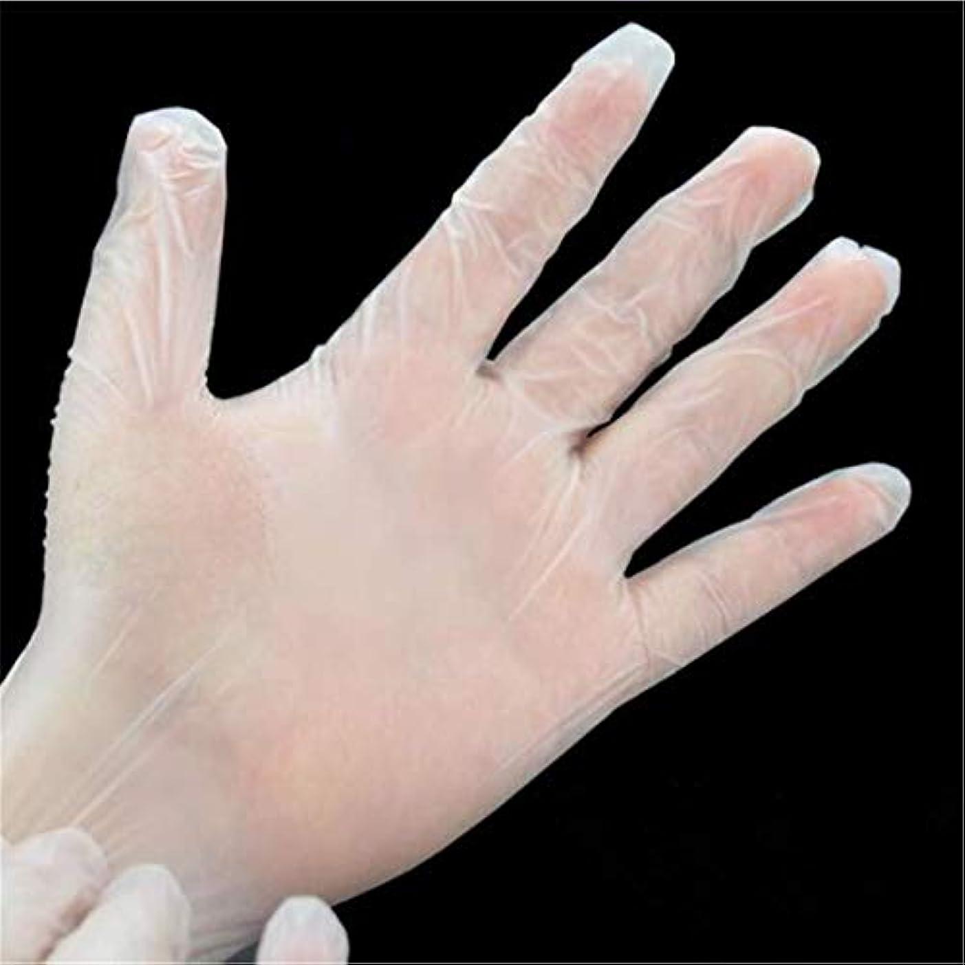 コマース加速する関係kaiwuyu 使い捨て手袋 ポリエチレン手袋 極薄ビニール手袋 ポリエチレン 透明 実用 衛生 50枚 高質
