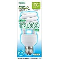 オーム電機 電球形蛍光灯 エコデンキュウ スパイラル形 E26 100形相当 昼光色 [品番]06-0278 EFD25ED/18-SP