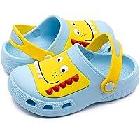 Kids Boys Girls Classic Clogs Cute Cartoon Lightweight Sandals Summer Slide Beach Water Shoes Shower Pool Slippers (Toddler/Little Kids)