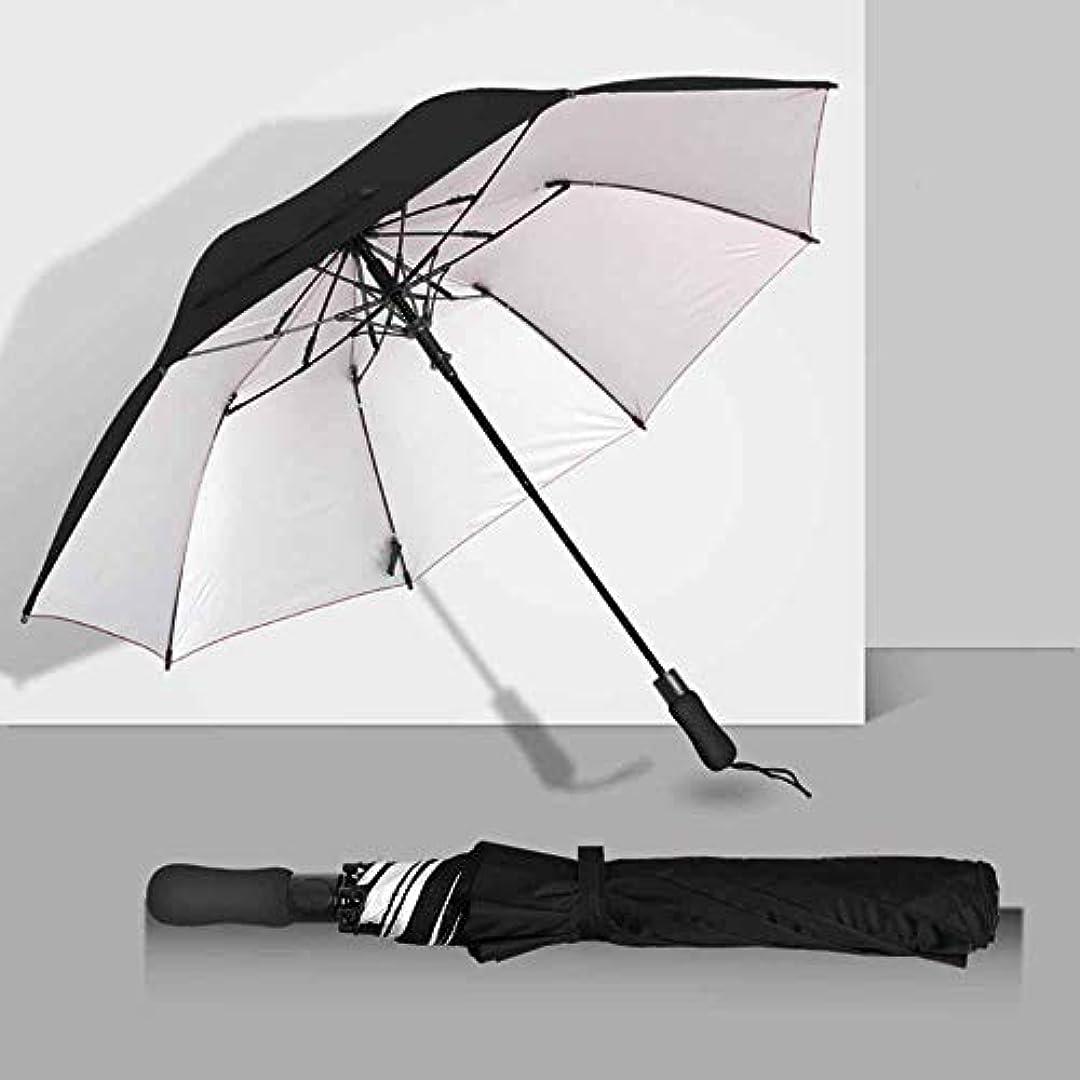 嫌がらせベースダイヤルChuangshengnet 傘迷彩屋外パラソル折りたたみ傘自動傘雨傘傘 (Color : ブラック)