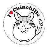 I Love チンチラ ステッカー