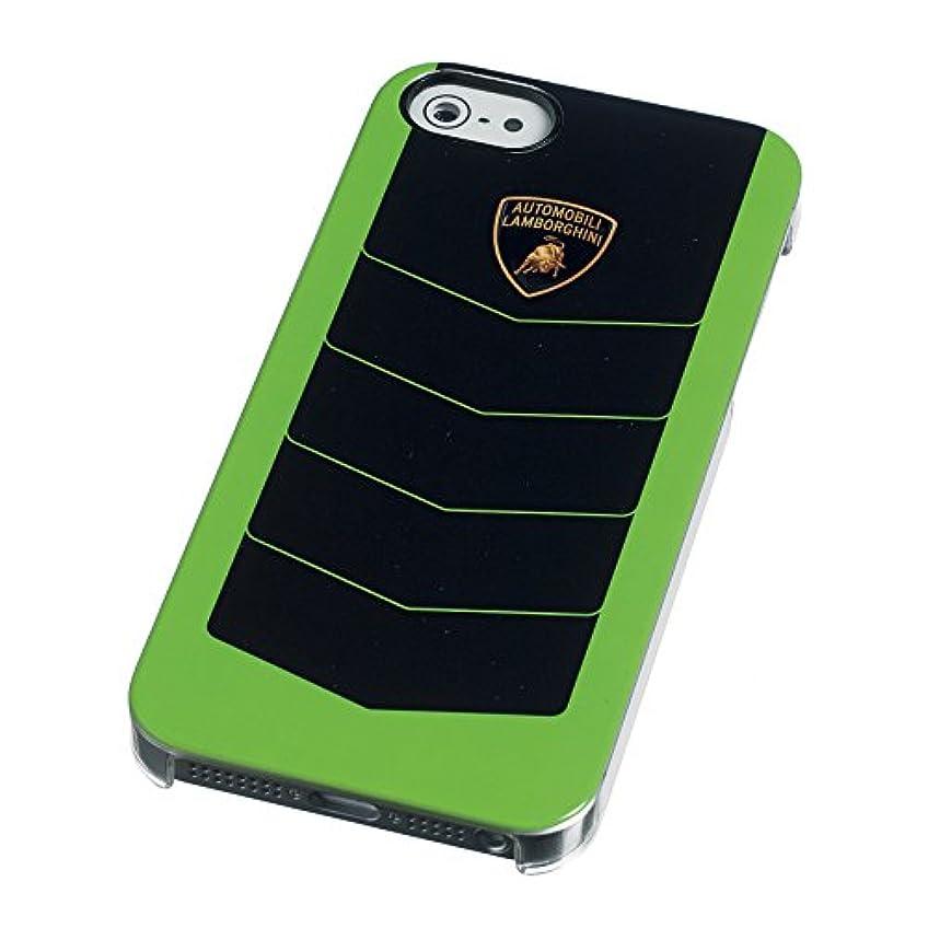 中央推論飾り羽Lamborghini 【iPhone5/5s対応バードカバーケース】 CORSA COVER Case グリーン LCCIP504A