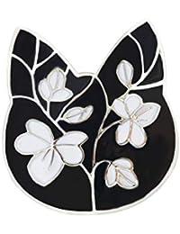 Ruikeyブローチ  ファッション レディース 猫の頭のブローチ  クリエイティブ おしゃれ ブローチピン 個性 デザイン アクセサリー ジュエリー プレゼント  合金