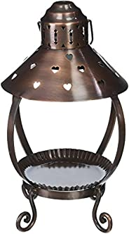 A Cheerful Giver Copper Heart Lantern