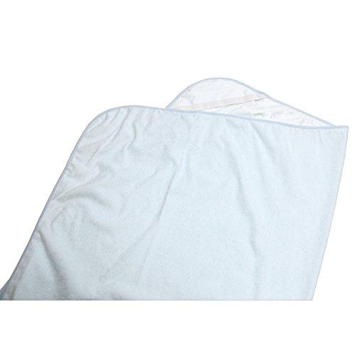 綿 100% パイル地 ベビー 防水シーツ 2枚組 70×120cm (ブルー)