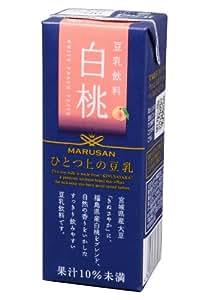 マルサン ひとつ上の豆乳 豆乳飲料白桃 200ml×24本