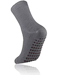 MEJORMEN メンズソックス 足ツボ 靴下 しめつけない 指圧 足裏 マッサージ 足の疲れ?むくみ フットケア 血行促進 抗菌防臭 吸汗速乾 ヨガ 四季用