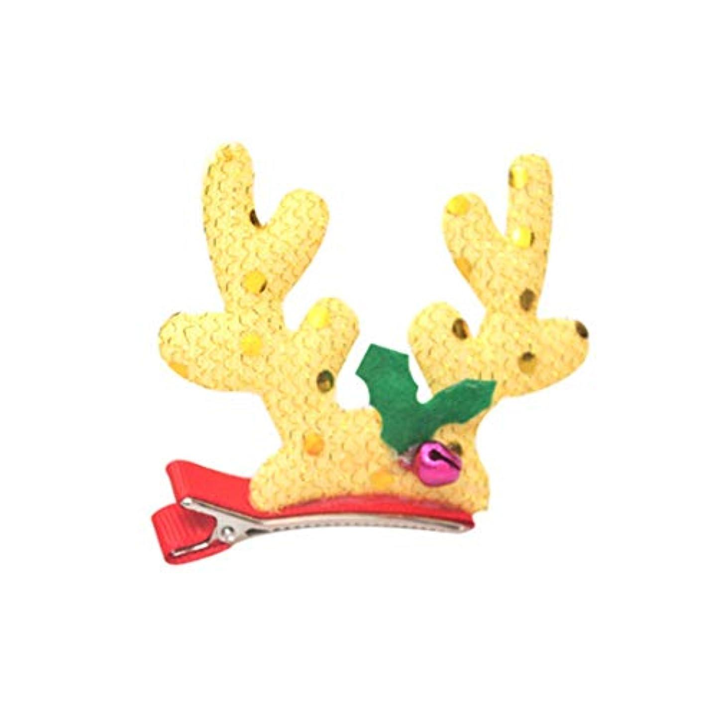 タイトワゴン怒っているクリスマスの装飾活動ギフトギフトコーラルヘアピンヘアアクセサリー帽子保育園キッズクリエイティブドレスアップ(利用可能な3つのスタイル) (Size : C)