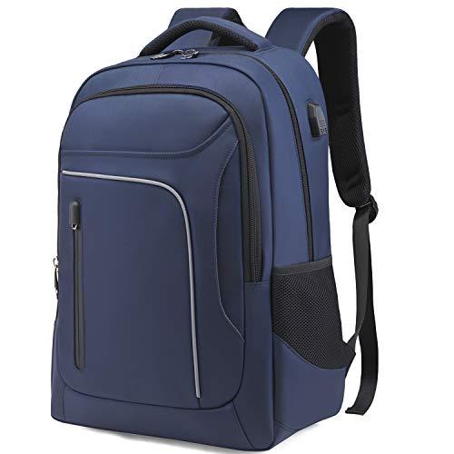 リュック メンズ バックパック 防水 リュックサック 大容量 ビジネスリュック 15.6インチ PCバッグ 防水 軽量 撥水加工 耐衝撃 メンズ レディース兼用 通勤 通学 出張 旅行 アウトドアなど適応 3色 (ブルー)