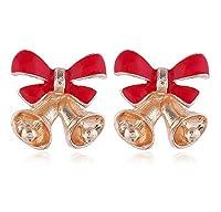 Treasure hunt ヨーロッパやアメリカのクリスマスベルイヤリングファッション漫画のキャンディ色の合金のイヤリング秋と冬のクリスマススタッドピアスINSスタイルのジュエリー