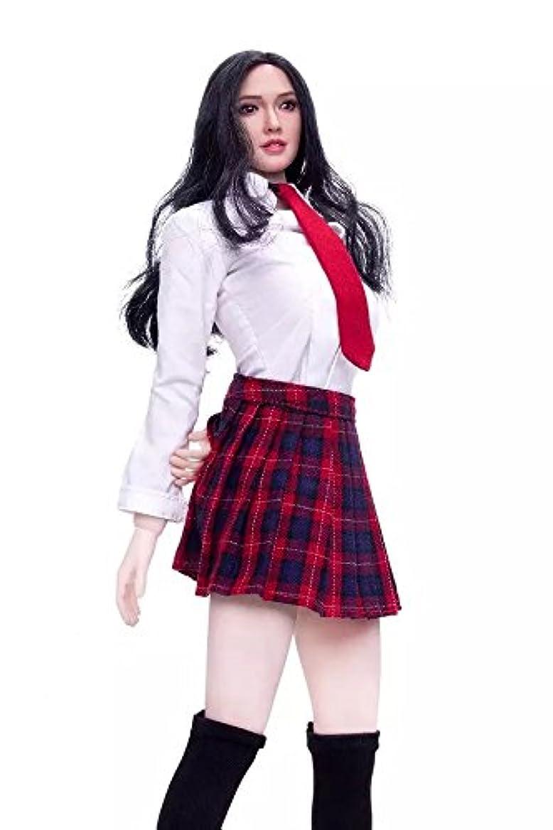 ケイ素売上高静かなLily 1/6 女性 衣装 スカート フィギュア アクセサリー 高校生 学校制服 ソックス 12インチ (NO.1)