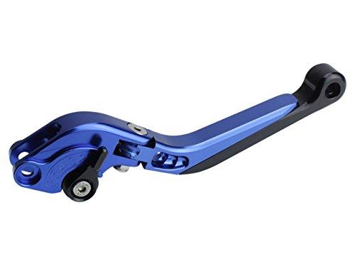 Ninja250/R/SL Z250/SL アルミ 削り出し ビレット ブレーキレバー&クラッチレバー セット 可倒 角度 伸縮 調整機能付 6色展開 ブルー