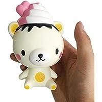 nomeni Mini Exquisite Fun Q Poo Bear香りつきSquishyチャームSlow Rising 13 cmシミュレーションおもちゃ