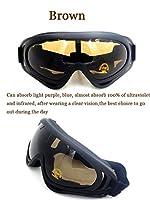 アウトドアスポーツグラスバイクサンドストームライディングメガネスキーゴーグル、防水、砂、目の保護、風 (褐色)