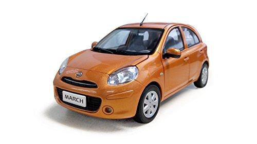 [公式]Paudi パウディ1/18日産 マーチ マイクラ 2010年ダイキャストモデルカー(オレンジ) Nissan March Micra 2010 Die-Cast Model