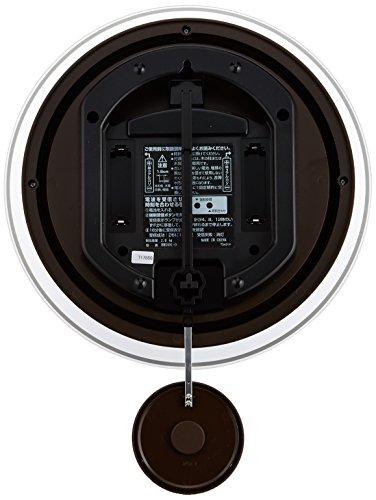 CITIZEN ( シチズン ) 電波 掛け時計 パルミューズスイング 振り子時計 ホワイト 8MX401-003