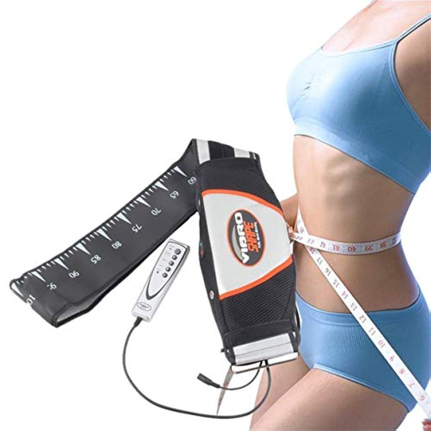 透けるテレビキャラバン強力な電気振動痩身ベルト振動マッサージベルトリラックストーン振動脂肪燃焼重量を失う効果的に失う