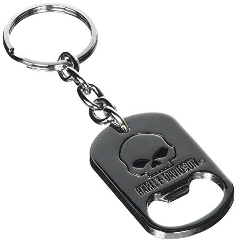 ハーレーダビッドソン メタルキーリング ボトルオープナー ウィリーGスカル #HDKB0181 /Harley-Davidson/キーホルダー・キーチェーン/アメリカン雑貨/