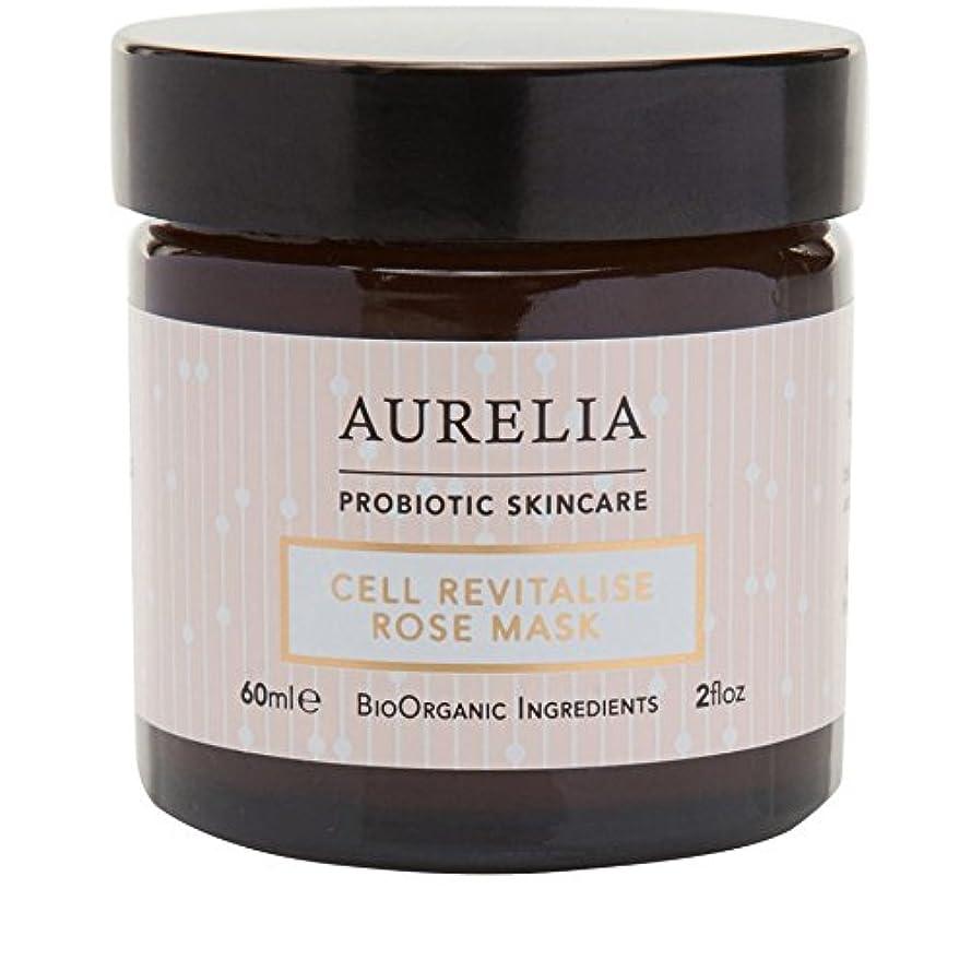 頭リーフレット隠された[Aurelia Probiotic Skincare] アウレリアプロバイオティクススキンケア細胞の活力アップは、マスク60ミリリットルをバラ - Aurelia Probiotic Skincare Cell Revitalise...