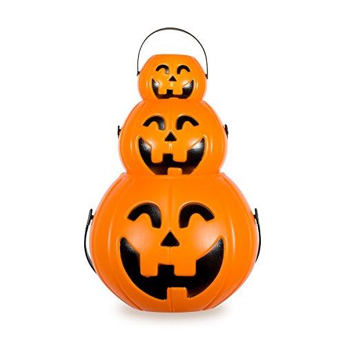 ハロウィン かぼちゃ提灯 3枚組み Zubita Hallo...
