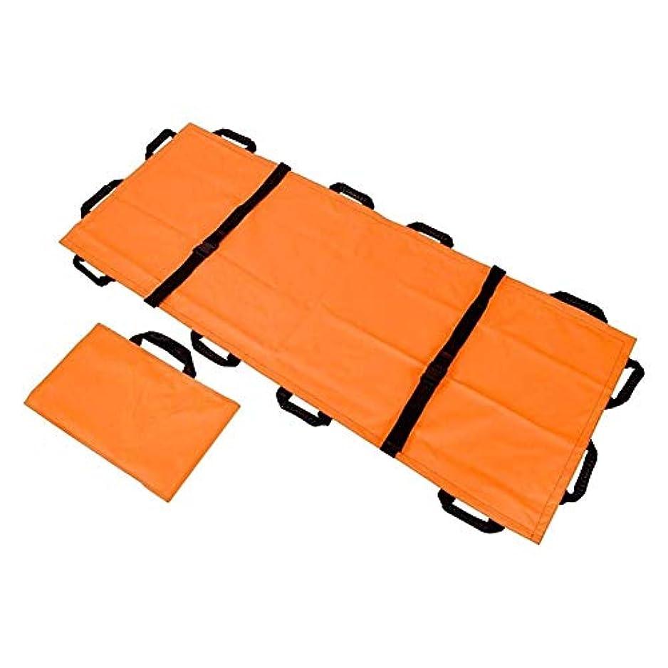 折りたたみ式キャンバスソフトストレッチャー、家庭用病院スクールスポーツアウトドアアクティビティ用のポータブル12ハンドル肥厚キャンバスストレッチャー (Color : B)
