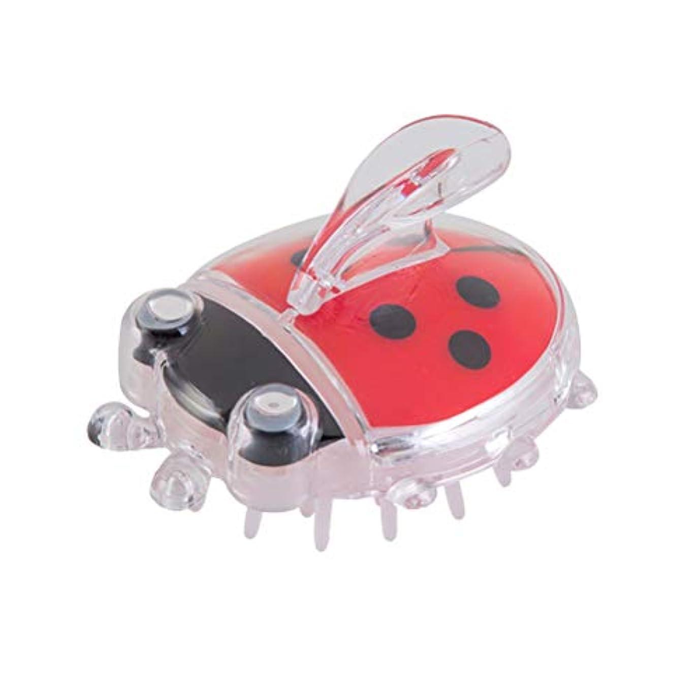 自発的修羅場パスTOPBATHY 生まれたばかりの乳児の赤ちゃんのためのマッサージコームヘアーブラシヘッドバスブラシ(赤Coccinella)1個