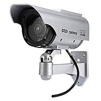 太陽光パネル搭載で半永久的に使用可能 防犯 ダミーカメラ LED 常時点滅で不審者を追い出す C-LSPJ11