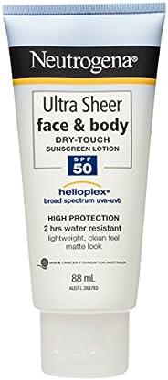 Neutrogena Ultra Sheer Face & Body Sunscreen Lotion SPF50