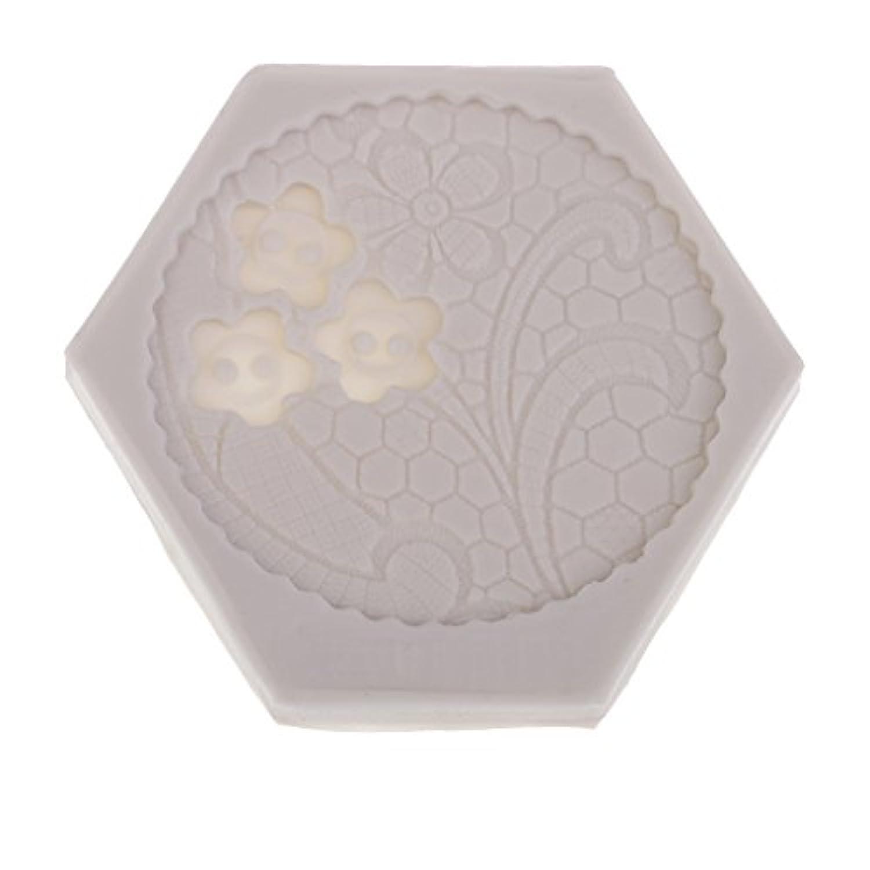 Prettyia ホビー用工具 塗装 古典的 シリコーン金型 手工作成 7.5×8cm  ケーキの装飾