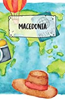 Macedonia: Ruled Travel Diary Notebook or Journey  Journal - Lined Trip Pocketbook for Men and Women with Lines