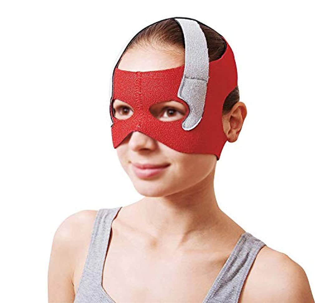 生き返らせる急性借りるGLJJQMY フェイシャルリフティングマスク回復包帯ヘッドギアマスクシンフェイスマスクアーティファクト美容ベルトフェイシャルとネックリフティングフェイシャル円周57-68 cm 顔用整形マスク