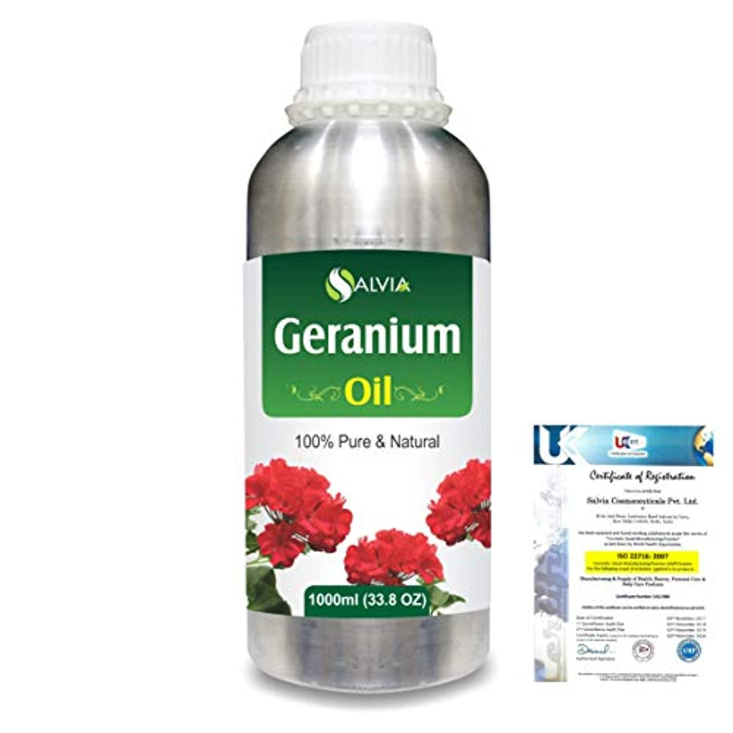 怠珍しい略語Geranium (Pelargonium Geranium) 100% Natural Pure Essential Oil 1000ml/33.8fl.oz.